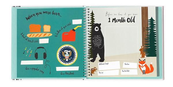 Eco friendly baby memory book